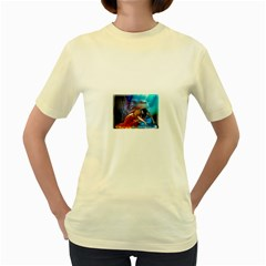 As The River Rises  Womens  T-shirt (Yellow)
