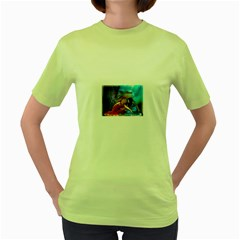 As The River Rises Womens  T-shirt (Green)