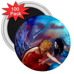 As The River Rises 3  Button Magnet (100 Pack)