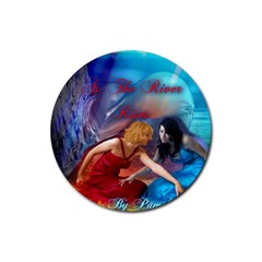 As The River Rises Drink Coaster (round)