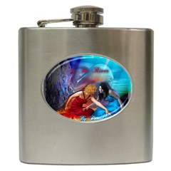 As The River Rises Hip Flask