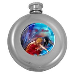 As The River Rises Hip Flask (round)