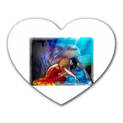 As The River Rises Mouse Pad (heart)