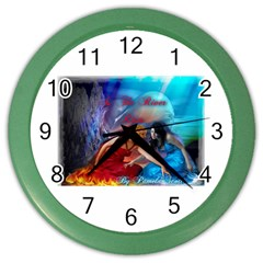 As The River Rises Wall Clock (color)