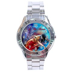 As The River Rises Stainless Steel Watch (Men s)
