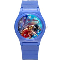 As The River Rises Round Plastic Sport Watch Small