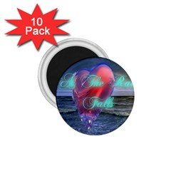 As The Rain Falls 1.75  Button Magnet (10 pack)