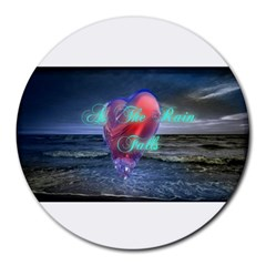 As The Rain Falls 8  Mouse Pad (round)