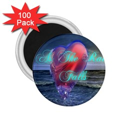 As The Rain Falls 2.25  Button Magnet (100 pack)