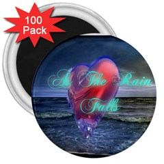 As The Rain Falls 3  Button Magnet (100 pack)