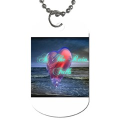 As The Rain Falls Dog Tag (One Sided)