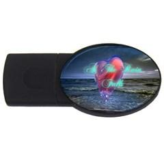 As The Rain Falls 2GB USB Flash Drive (Oval)