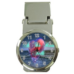 As The Rain Falls Money Clip with Watch