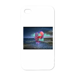 As The Rain Falls Apple Iphone 4 Case (white)