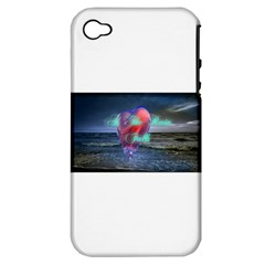 As The Rain Falls Apple iPhone 4/4S Hardshell Case (PC+Silicone)