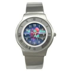 As The Rain Falls Stainless Steel Watch (Unisex)