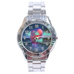 As The Rain Falls Stainless Steel Watch (Men s)