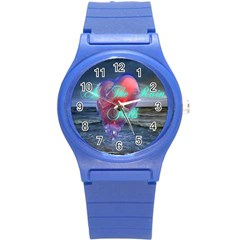 As The Rain Falls Round Plastic Sport Watch Small