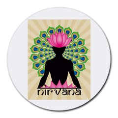 Me & Nirvana 8  Mouse Pad (Round)