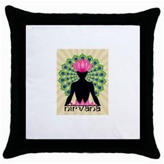 Me & Nirvana Black Throw Pillow Case