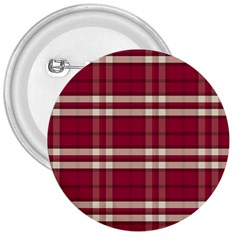 Red White Plaid 3  Button
