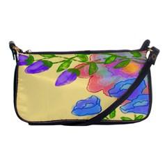 Abstract Floral Shoulder Clutch Handbag Evening Bag