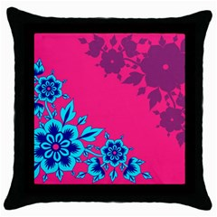 4 Black Throw Pillow Case