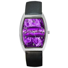 Flaming Hope Tonneau Leather Watch