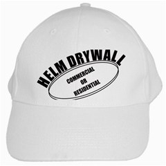 Helm Drywall White Baseball Cap