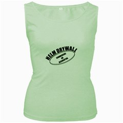 Helm Drywall Womens  Tank Top (green)
