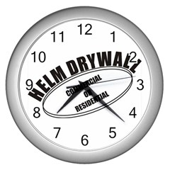 Helm Drywall Wall Clock (Silver)