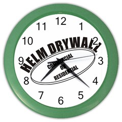 Helm Drywall Wall Clock (color)