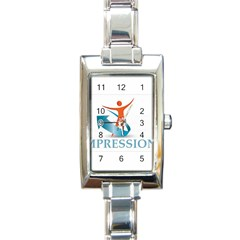 Impressions Rectangular Italian Charm Watch
