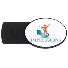 Impressions 1GB USB Flash Drive (Oval)