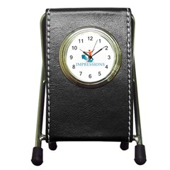 Impressions Stationery Holder Clock