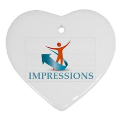 Impressions Heart Ornament (two Sides)