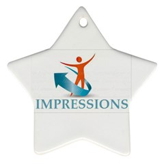 Impressions Star Ornament (Two Sides)