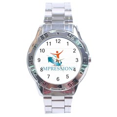 Impressions Stainless Steel Watch (Men s)