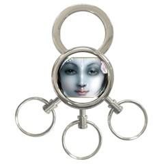 Kisna 3-Ring Key Chain
