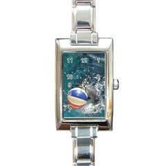 120 Rectangular Italian Charm Watch