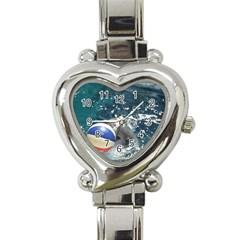 120 Heart Italian Charm Watch