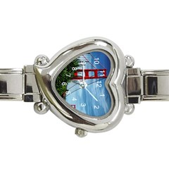Golden Gate And The Flower s  Heart Italian Charm Watch