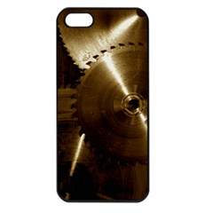 Abstract Saw Blades Apple iPhone 5 Seamless Case (Black)