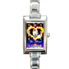 TheFloralCovenant Rectangular Italian Charm Watch
