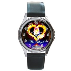 TheFloralCovenant Round Metal Watch (Silver Rim)
