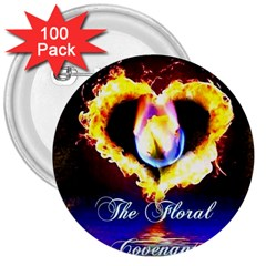 Thefloralcovenant 3  Button (100 Pack)