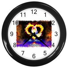 TheFloralCovenant Wall Clock (Black)
