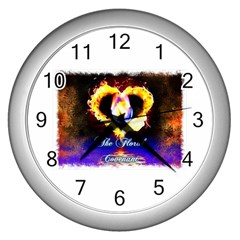 TheFloralCovenant Wall Clock (Silver)