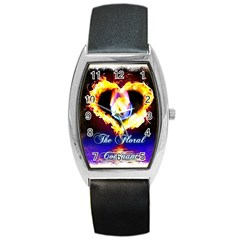 TheFloralCovenant Tonneau Leather Watch