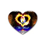 TheFloralCovenant Drink Coasters (Heart) Front